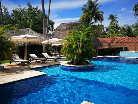 Resort privado c/piscina Likin -Piscina con casa-