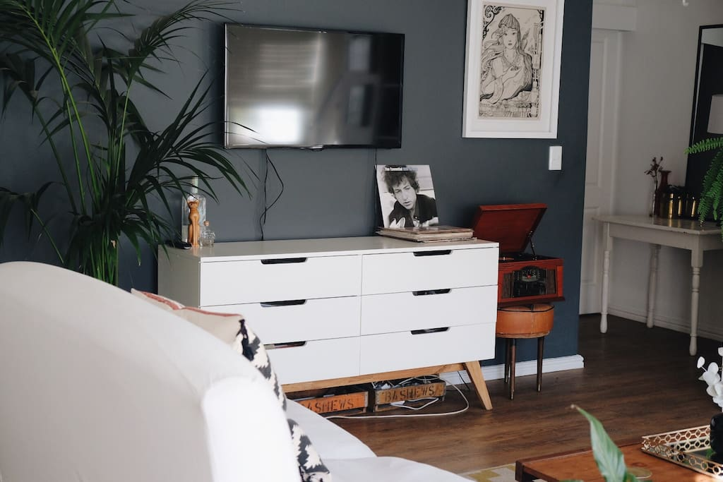 TV and Vinyl Player