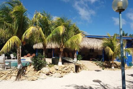 Sfeervol appartement in tropische tuin met zwembad