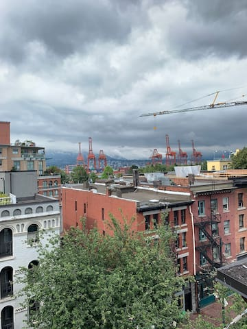 Great view of gastown and the docks