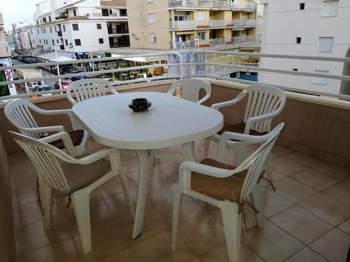 Apartment with 3 bedrooms in Alcossebre, with wonderful city view and furnished terrace - 50 m from the beach