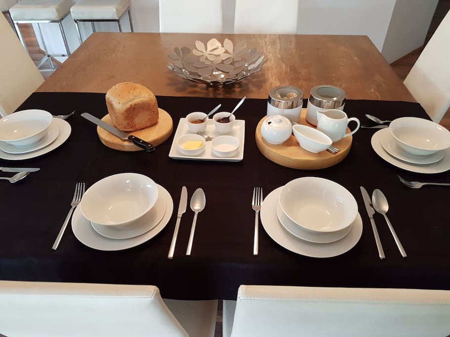 Continental Breakfast supplied and available for you to have at your leisure in the morning..