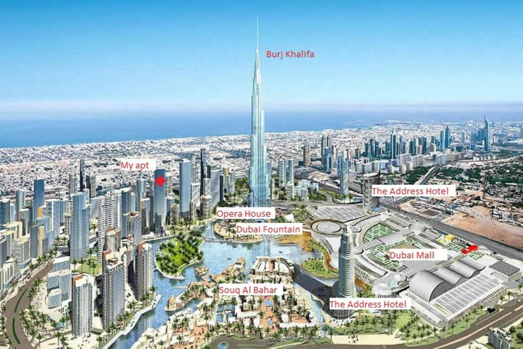 My place is right at the heart of Downtown, 2 min walk to Burj Khalifa, Dubai Fountain, Dubai Mall, Souq Al Bahar, Dubai Opera House