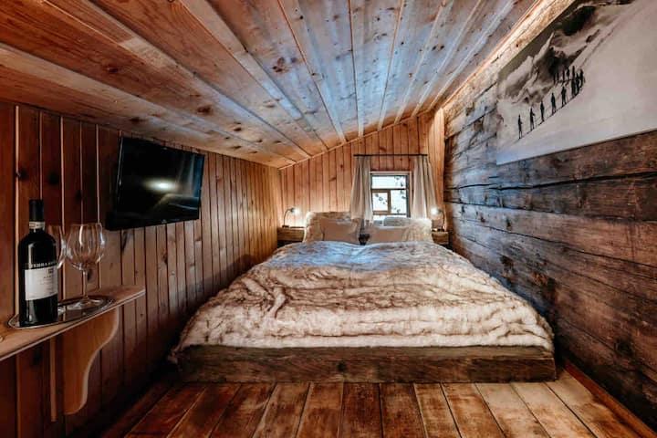 Doppelzimmer mit Bergblick, Sauna, Skiinskiout 3