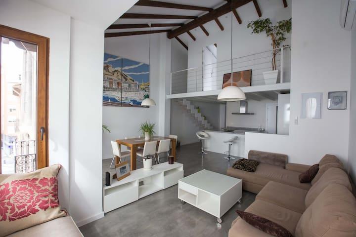 Nuevo Loft en pleno centro ideal para familias - Alacant - Loft