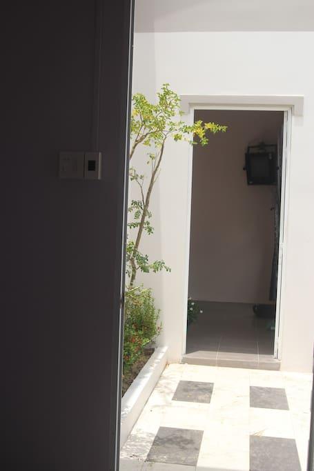 from room door