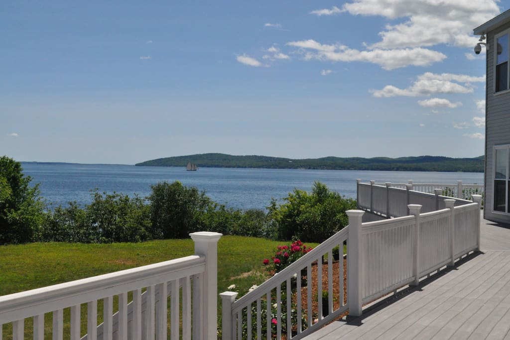 Part of the view from the front deck