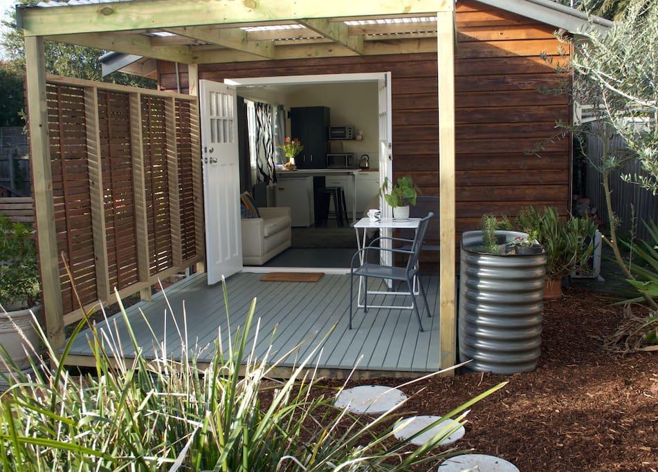 Studio deck and garden
