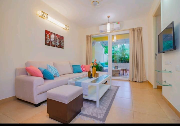 Elegant 1BHK Apartment with Pool in North Goa