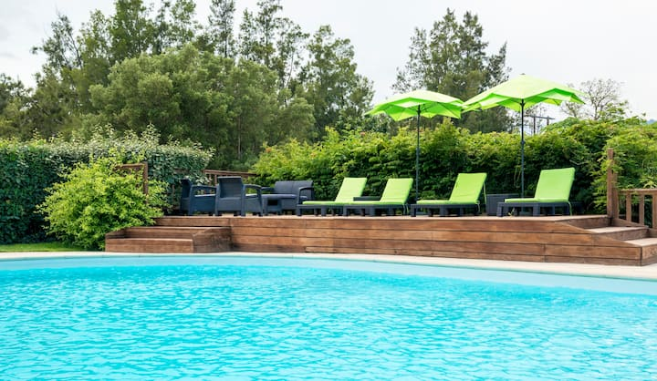 appart 30 m2 avec piscine chauffée plage pinarello