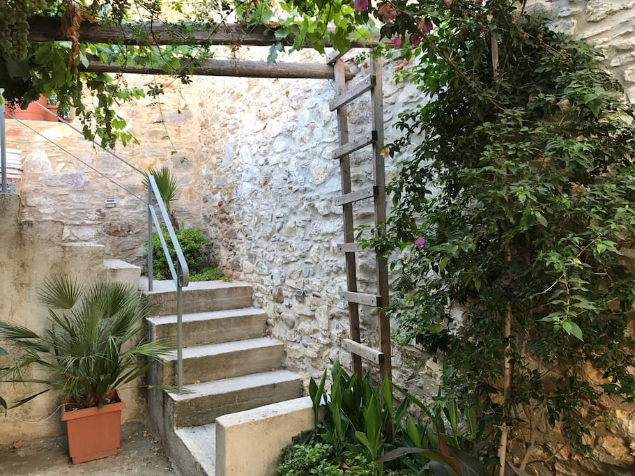 Stairway from Garden Entrance