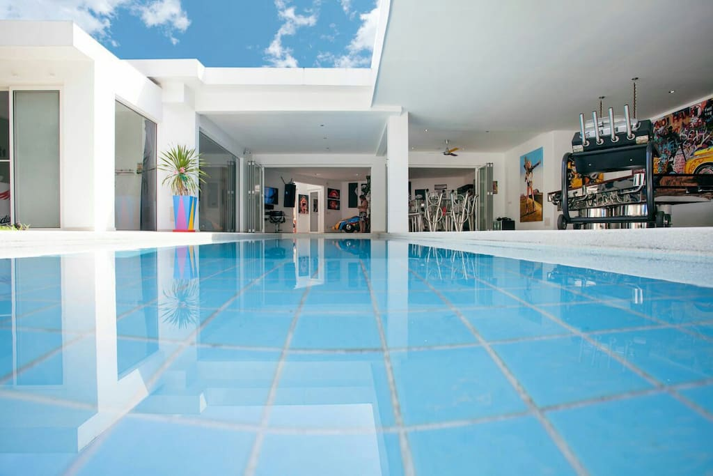 14 meters swimming pool