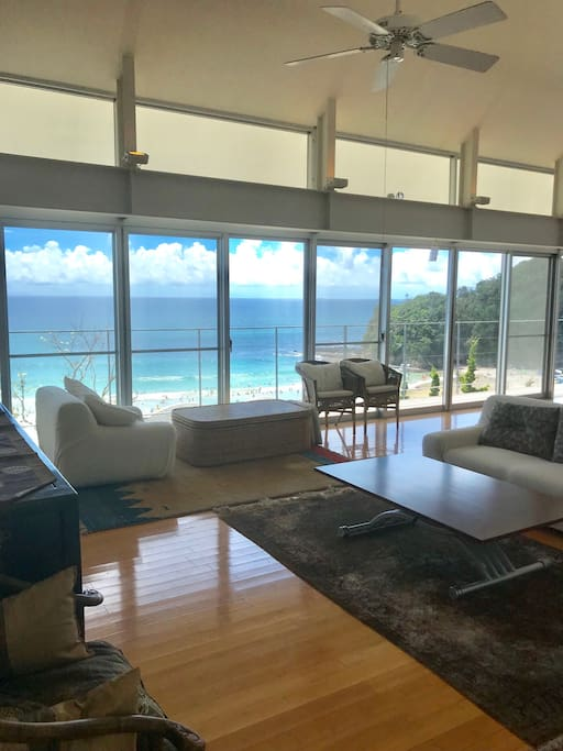 Living with Beach view