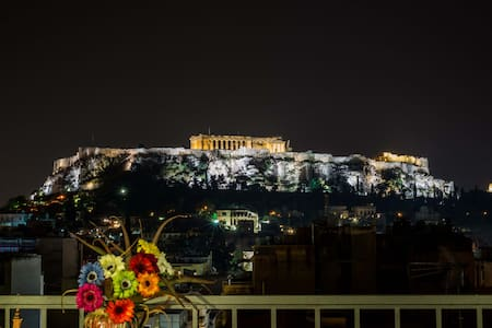 360 degree view of Athens, studio by Parthenon - Athina - Apartament