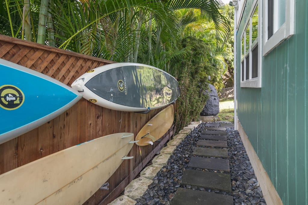Private entry way to your private oasis.