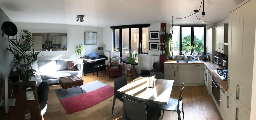 Bright, spacious living room, which you will share with me