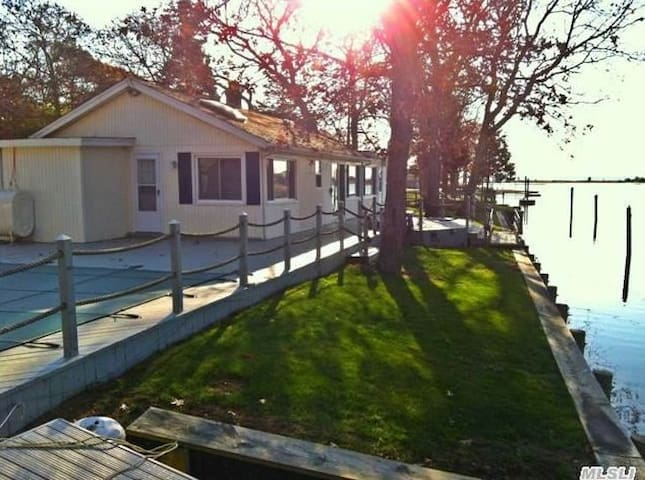 Southold waterfront 4 bedroom home and cabana