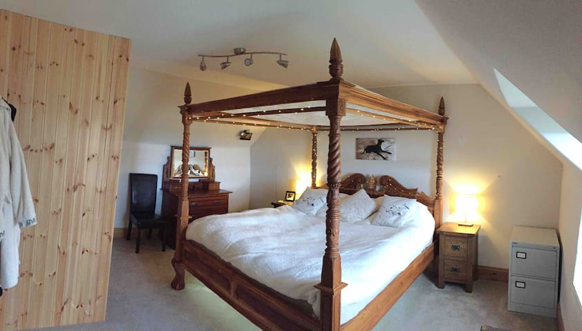 master bedroom with superking