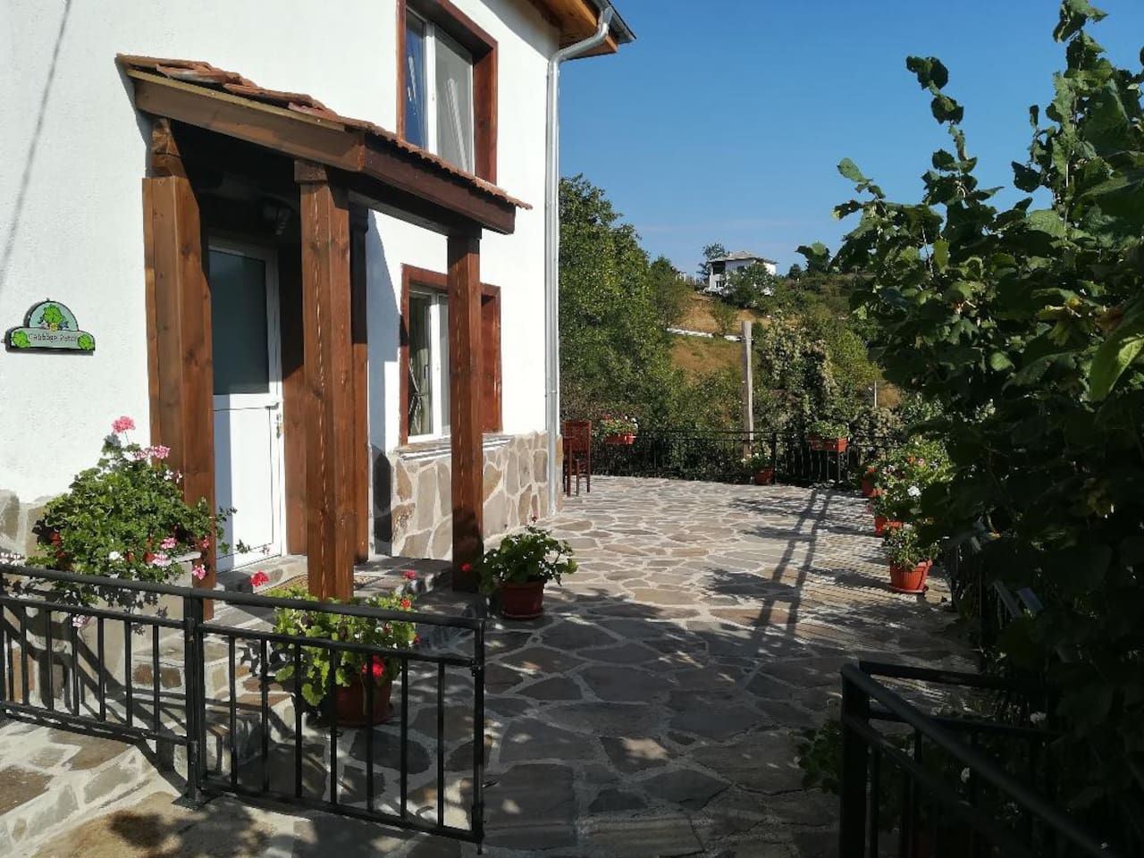 The Cabbage Patch,  newly refurbished with spacious private terrace. Peace and tranquillity in the Rhodopes with stunning rural views across the mountains and local vegetable gardens.