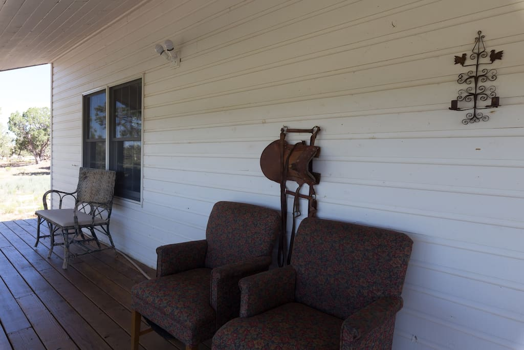 Seating on the back deck-enjoy morning coffee