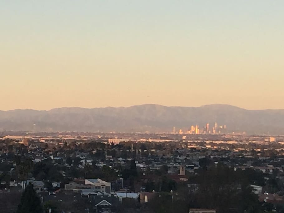 View of downtown LA