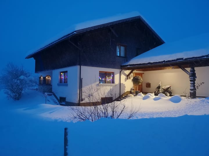 """Spacious Holiday Home """"Ferienhaus Kanisblick"""" in Scenic Area with Mountain View, Wi-Fi, Balcony, Terrace & Garden; Parking Available"""