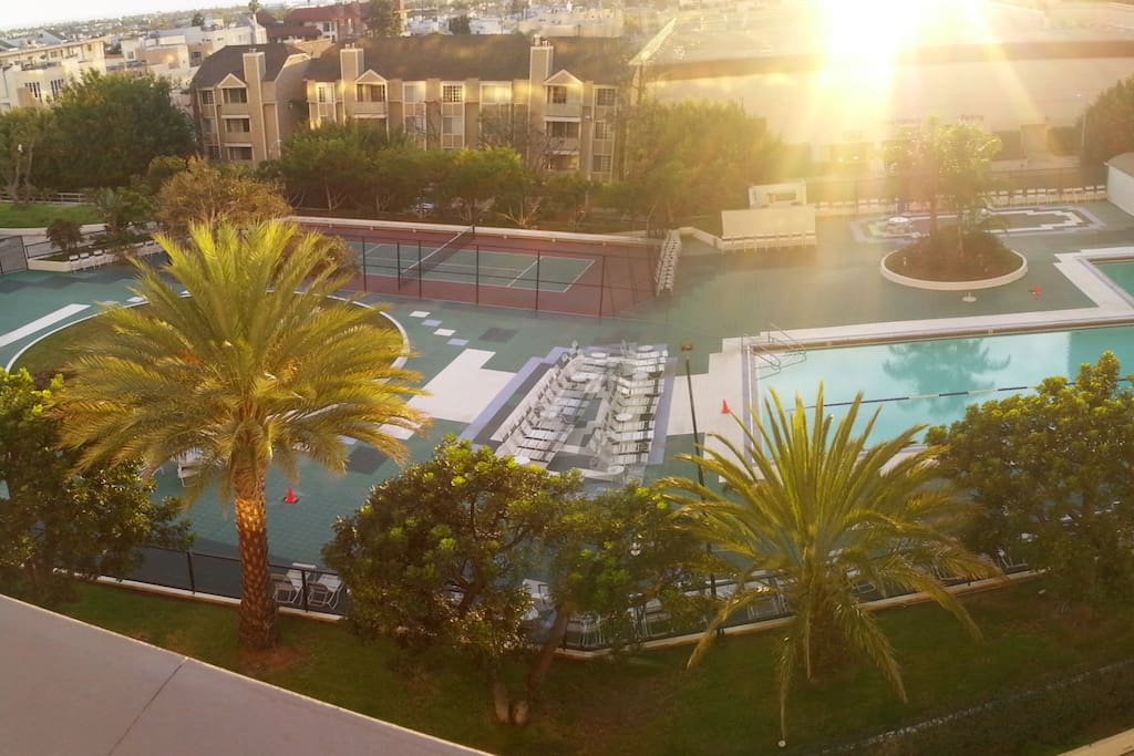 Olympic size heated pool which is open year round