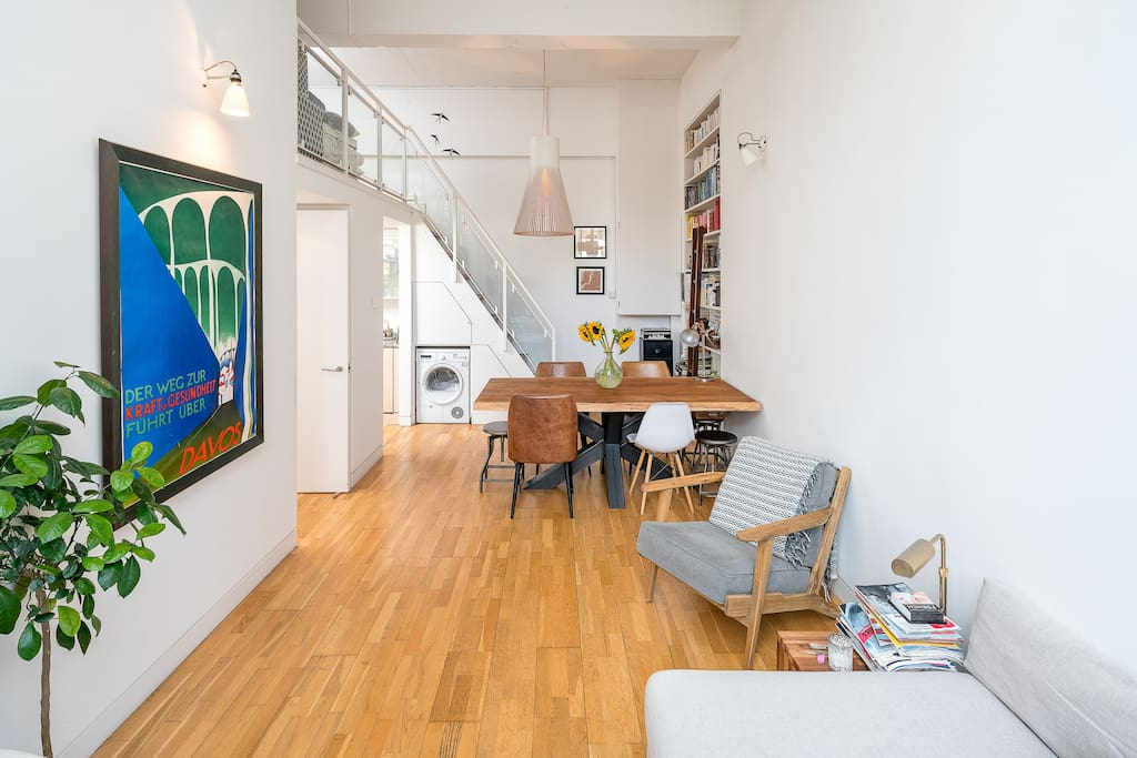 The open-plan design makes a sociable area to hang out in.