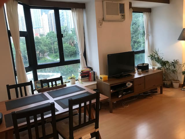 Spacious flat in great location with amazing views