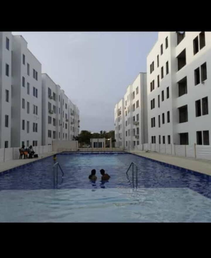 Hermoso y cómodo apartamento cerca al mar.