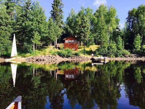 Log Cabins on BWCA Wilderness Lake!