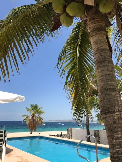 """Loft davant la platja """"Pargo"""" (vista al jardí)"""