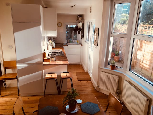 Spacious flat for two with private garden