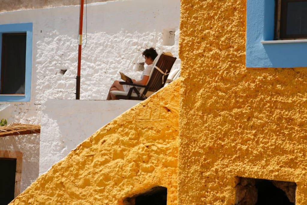 """On the """"liakos"""" veranda"""