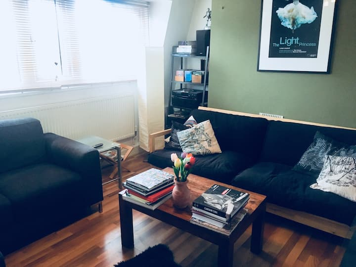 Double room in airy modern flat 15 mins to C Ldn