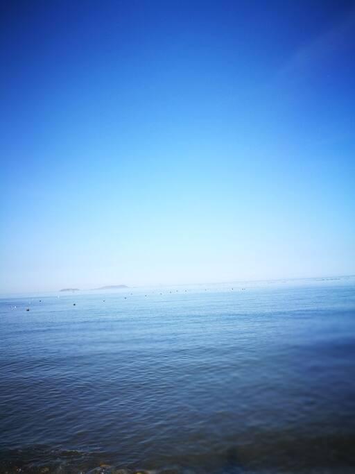 海天一色,眺望海上岛屿