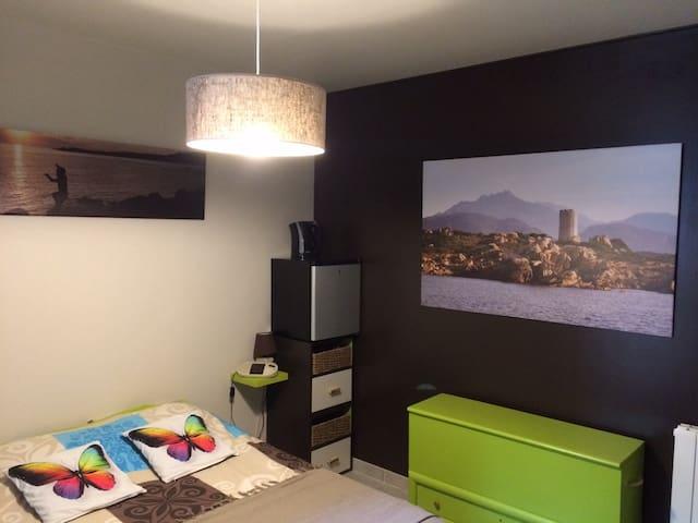 Chambre agréable tout confort (verte)