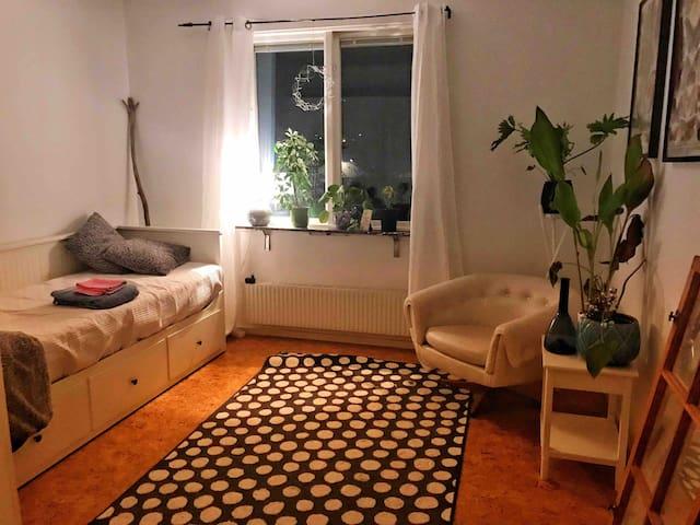 Eget rum i mysig lägenhet.