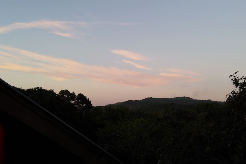 Sunrise from private deck.