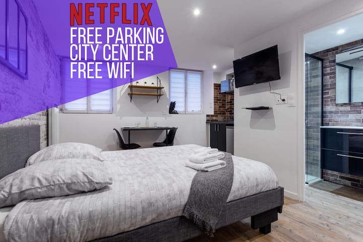 ★ Studio VilleneuveCityStay Moderne ★ City Center ★ Free Wifi