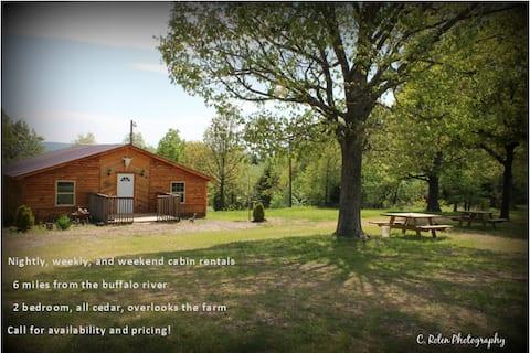 Cedar cabin near Buffalo River