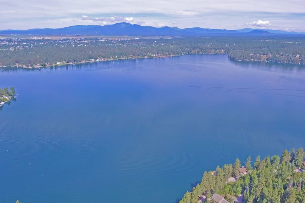Ariel View of Hayden Lake