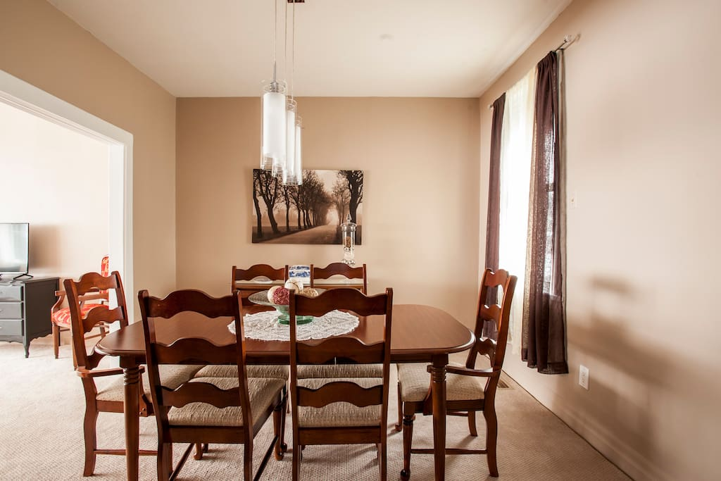 Dine-in option in the Dining Room