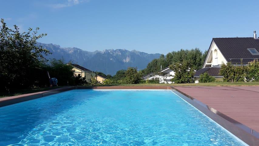 Grande villa familiale à louer proche de Montreux - Saint-Légier-La Chiésaz - House