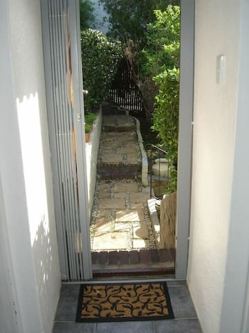 Entrance with security gate