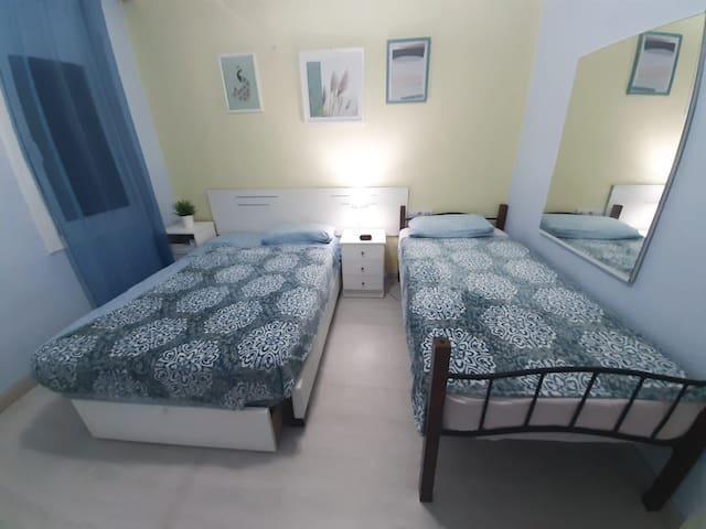 (B3) Triple Private Bedroom with Keylock & WiFi