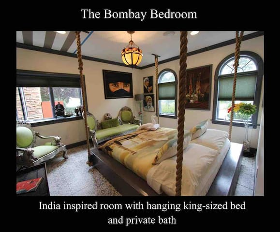 The Bombay Bedroom King Bed & Sofa Private Bath