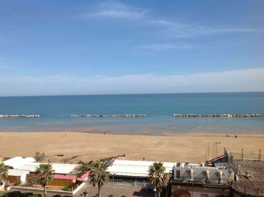 La spiaggia di Sant'Antonio dal balcone