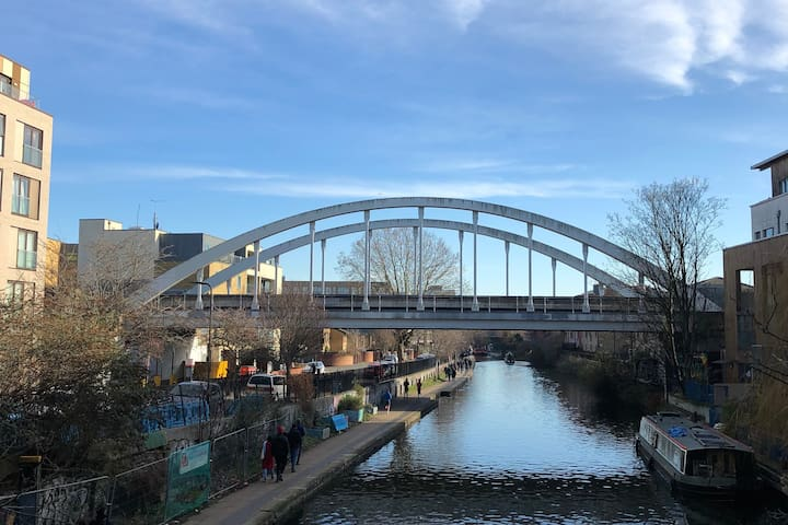 Bright, Canal-side, whole apartment in East London