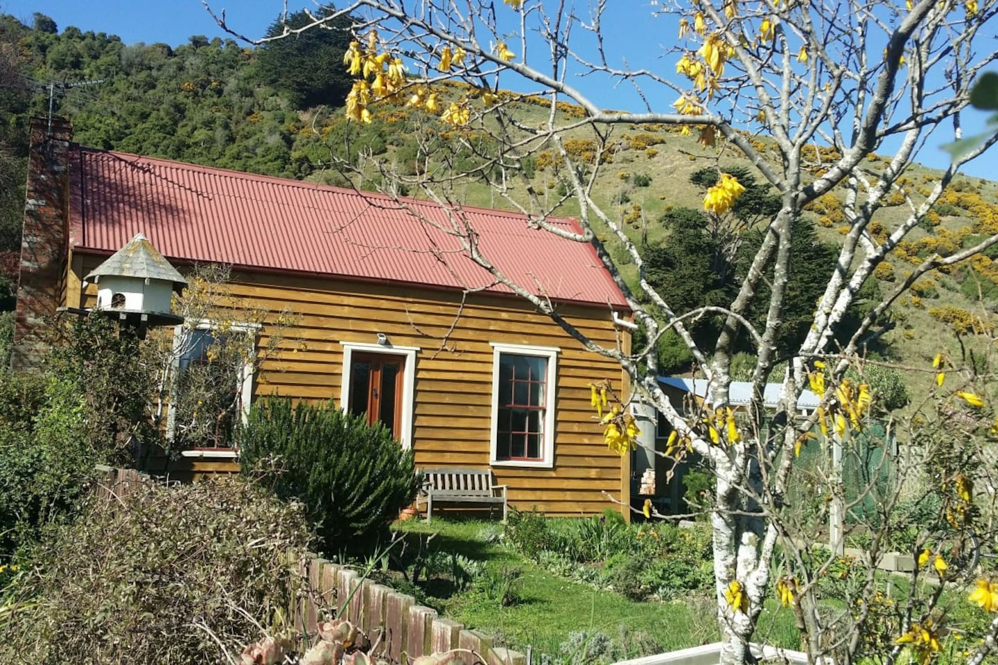 Welcome to this little oasis of peace and calm. Historic cottage with modern facilities. Warm and sunny.  So close to local attractions. Enjoy your rest while planning your adventure around the iconic Otago Peninsula.